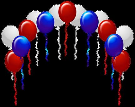 Balloons, Blue Balloons, Streamers