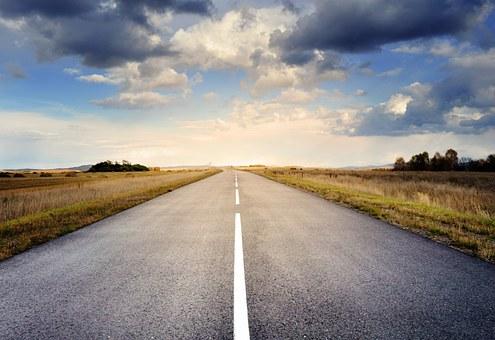 Road, Asphalt, Sky, Clouds, Fall