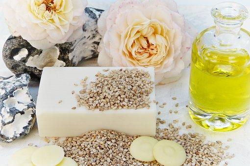 Soap, Rose, Oil, Sesame, Cocoa Butter