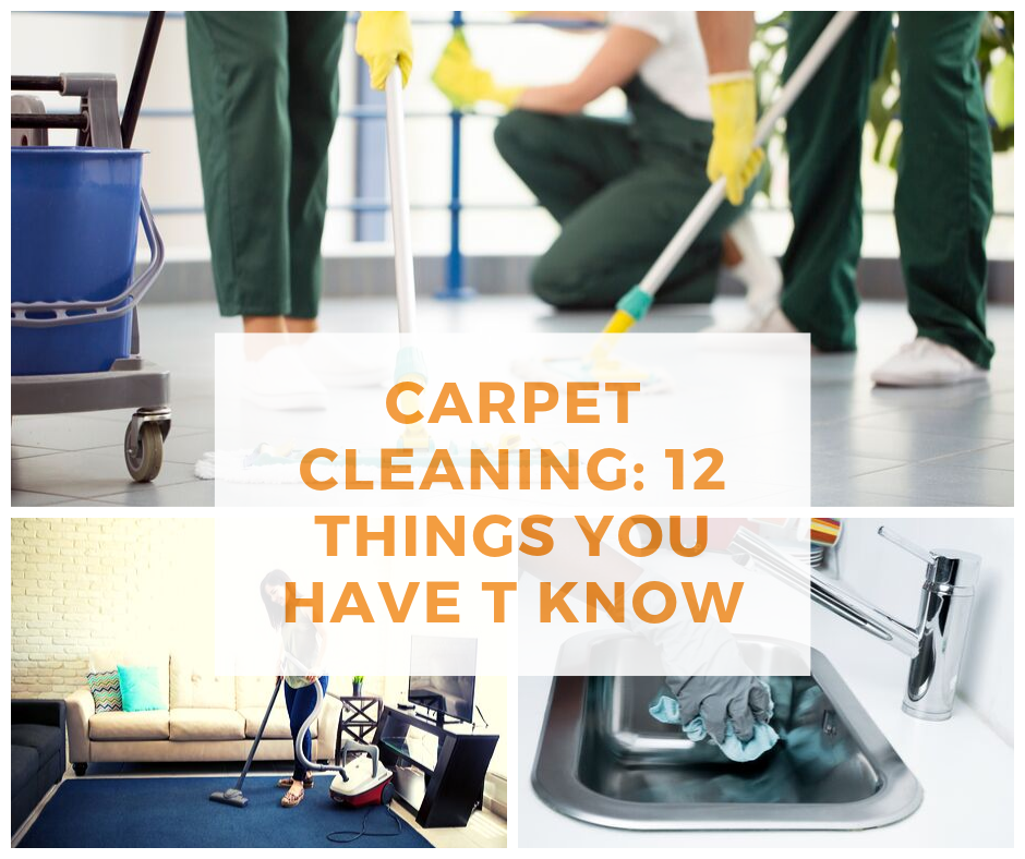 Carpet Cleaning 12 Things You have T Know