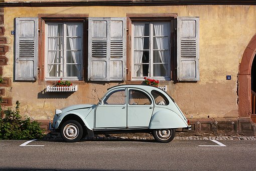Auto, Oldtimer, Citroen Duck, Window