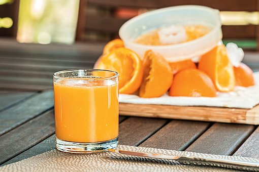 Fresh Orange Juice, Squeezed, Refreshing