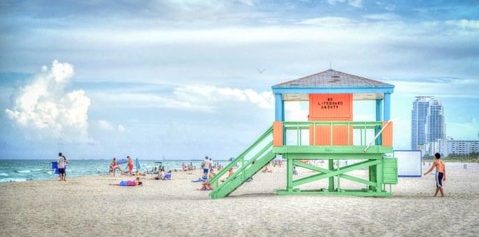 South Beach, Florida, Lifeguard Stand