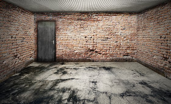 Space, Empty, Garage, Stone Floor