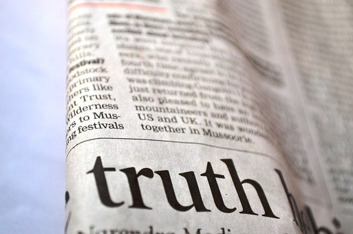 Truth, Newspaper, News, Printed, Text