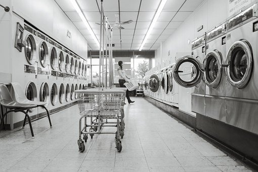 Laundry Saloon, Laundry, Person