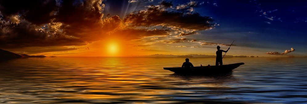 Sunset, Fisherman, Fishing Boat, Cloud